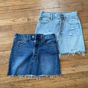 Levi's   501 high waist skirts